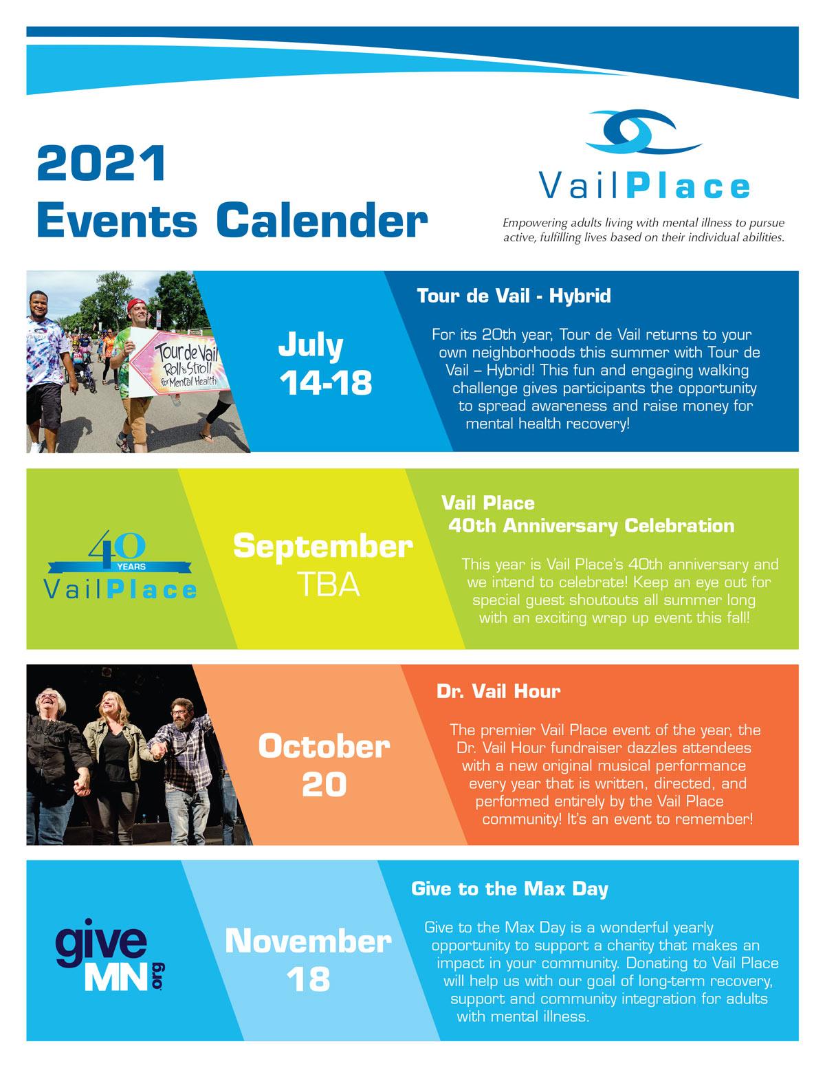 2021 Events Calendar